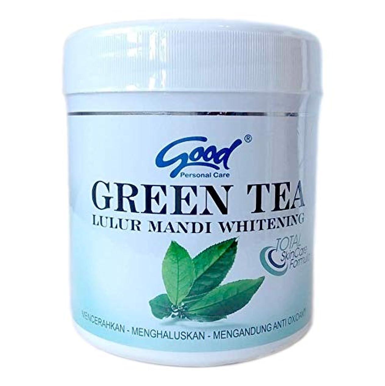 good グッド Lulur Mandi Whitening ルルール マンディ ホワイトニング GREEN TEA グリーンティー 1kg / マンディルルール ボディピーリング ボディトリートメント [海外直送品]