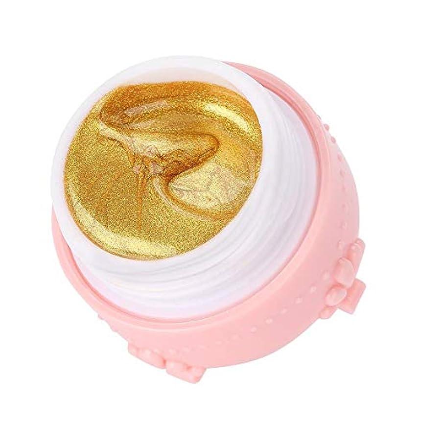 今晩悪性腫瘍行商ジェルネイル キラキラ素敵な 3DネイルUVジェル 強力な接着 女性 良い贈り物(金色)