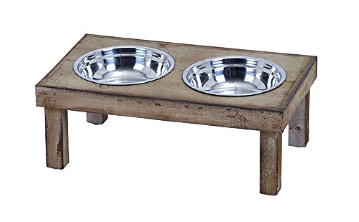 ゆるく制限する診断するDeco 79 Classic Style Handmade Pet Feeder Food Bowl by D'Eco