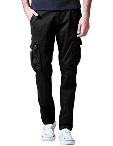 (マッチスティック)Matchstick カーゴパンツ メンズ 大きいサイズ 6ポケット カーゴ ワークパンツ (W34,6531 ブラック)