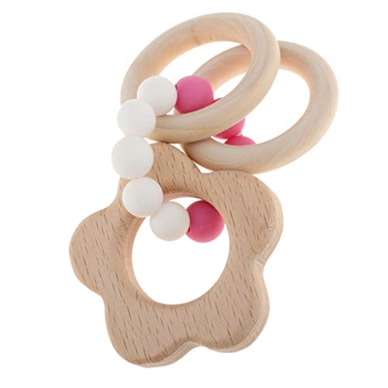 perfk 全5種類 赤ちゃん 子供 歯がため リング 木製 歯がためおもちゃ 幼児 木のおもちゃ - 雲