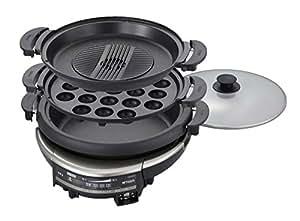 タイガー グリル鍋 深鍋・たこ焼き・焼肉プレート付き CQD-B300-TH