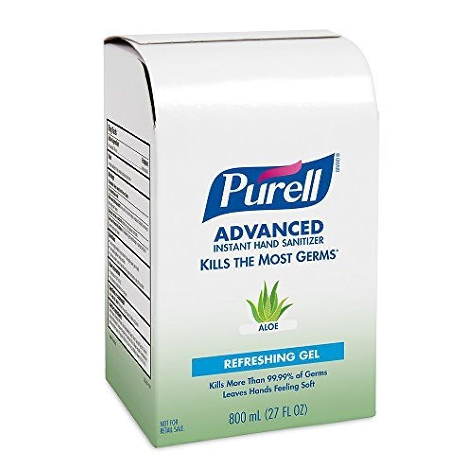 些細な白い中間PURELL 9637-12 Advanced Instant Hand Sanitizer with Aloe 800 mL Refill (Pack of 12) [並行輸入品]