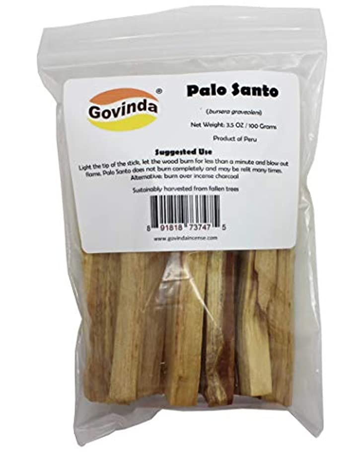 コスチューム枠に対処するPalo Santo ペルー産パロサント香 Govinda 3.5オンス / 100 グラムパック