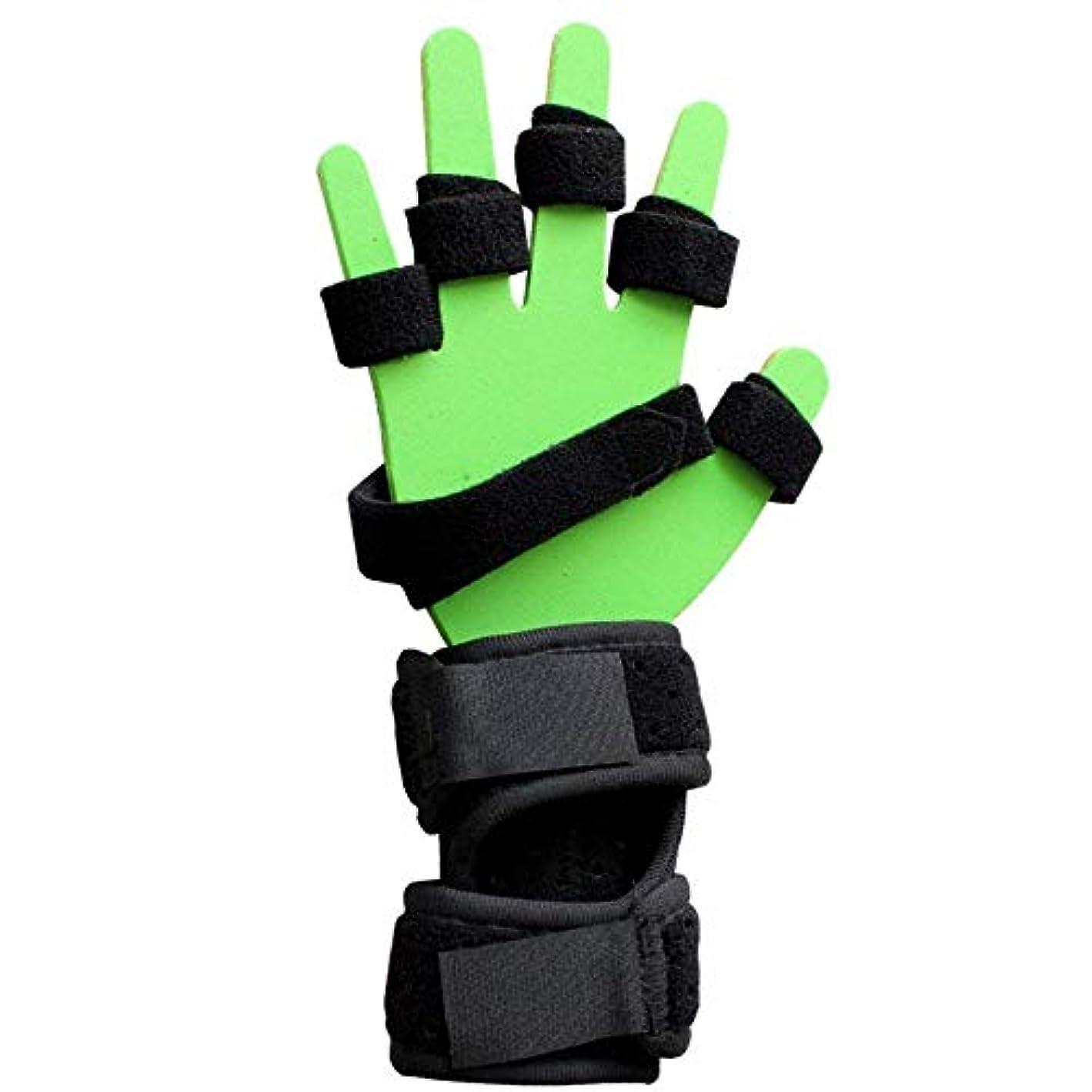 論理パトロールすずめ指損傷サポート、指板トレーニング指固定プレート、片麻痺用指装具プラスチックアルミニウムプレート,RightHand-M