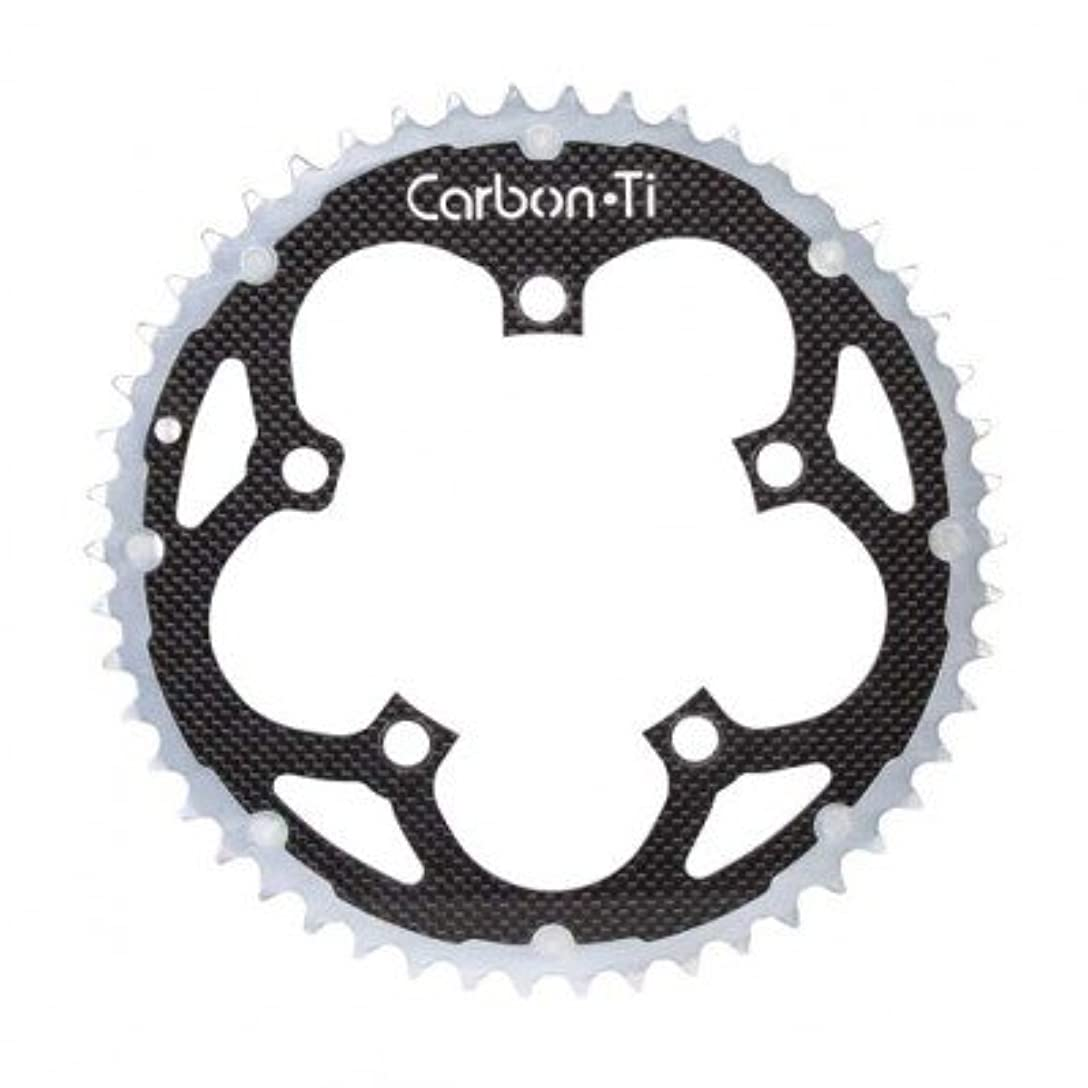 素人導体男性(カーボンチ/CarbonTi)(自転車用チェーンリング)X-Ring ROAD Al/Ca 110 カンパ インナー (タイプ) 10S銀