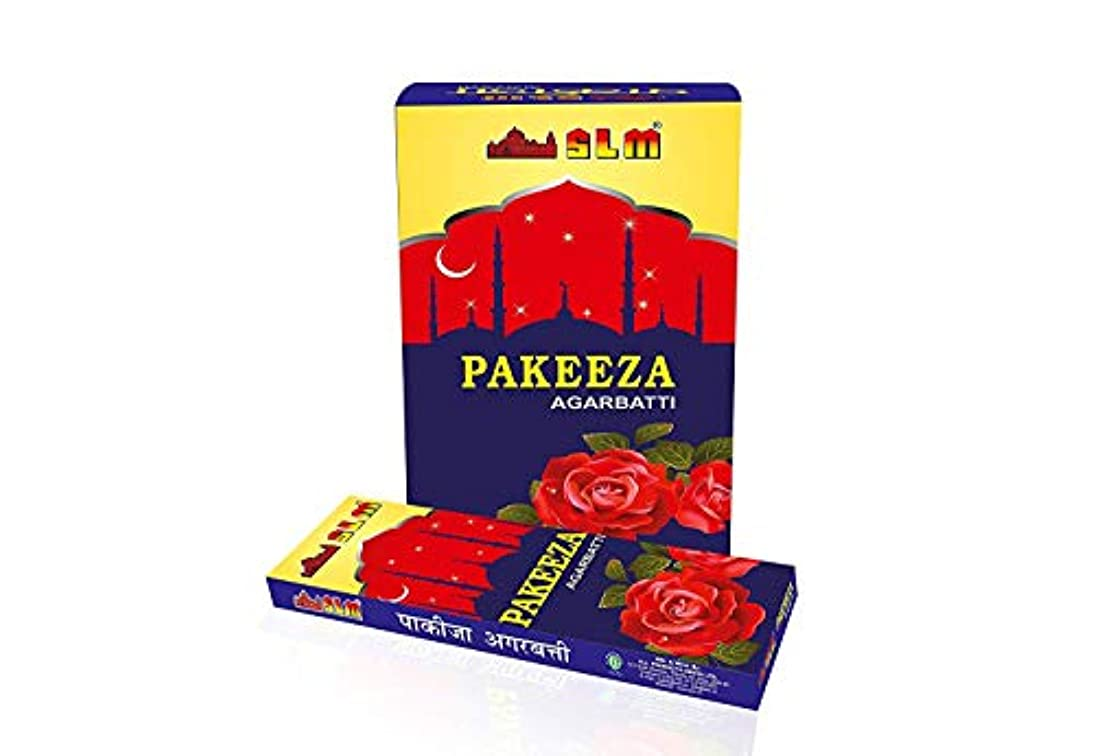熱松明電子SLM PAKEEZA AGARBATTI(Content :12 Packets,10 stick in Each Packet,Total :120 Sticks)