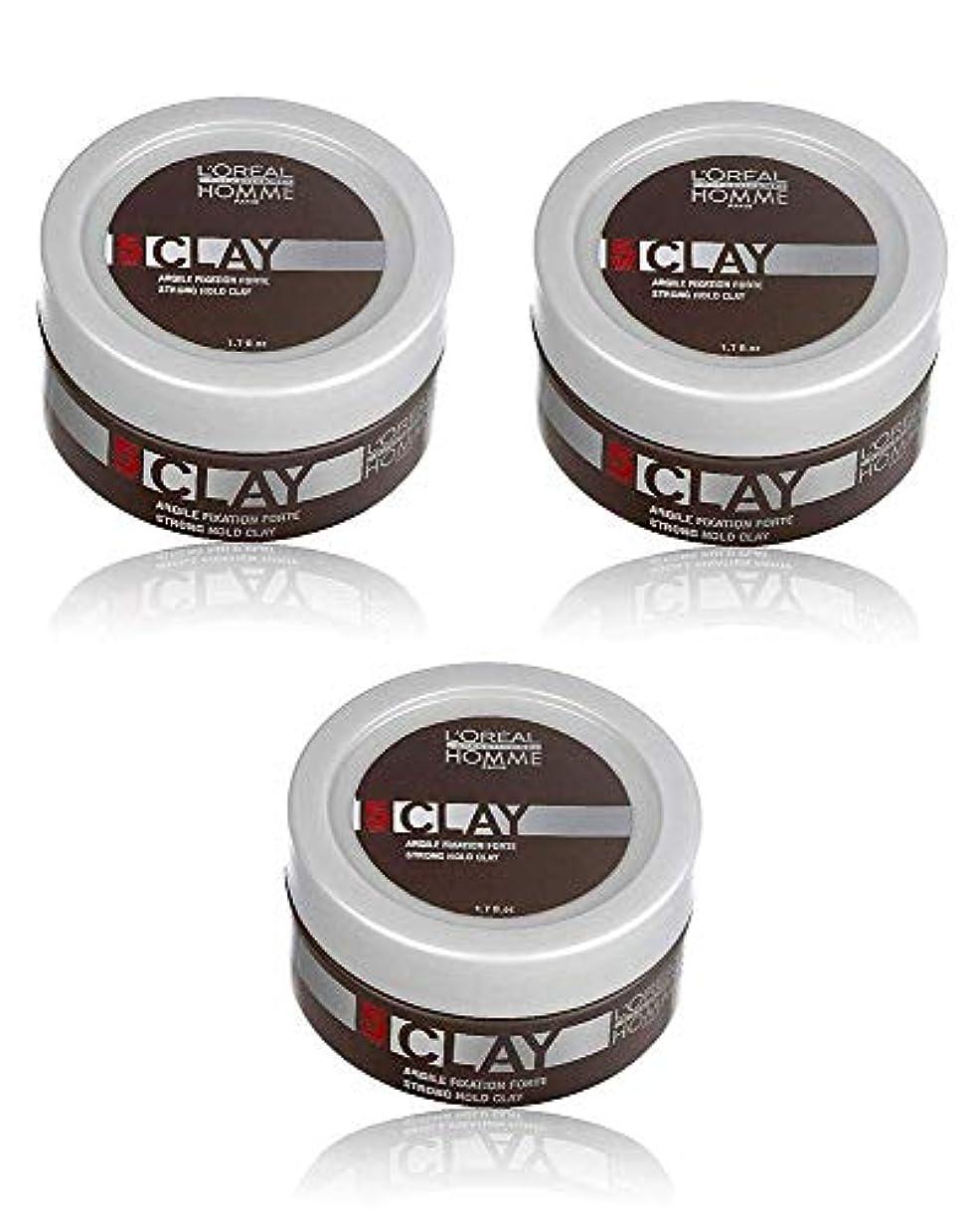 サーマル暖かさ日常的にロレアル プロフェッショナル  5 クレイワックス 50g [ミディアムハードホールド] 整髪料