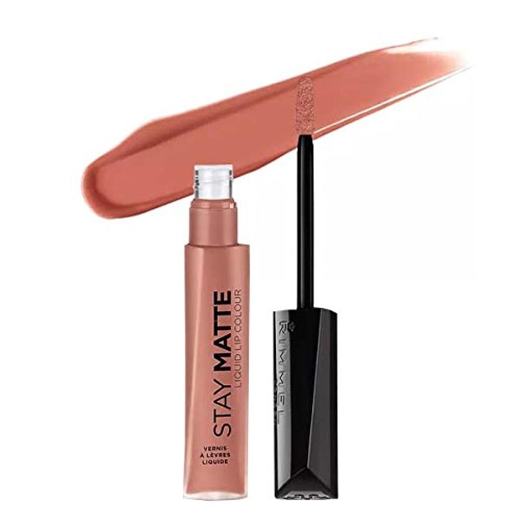(3 Pack) RIMMEL LONDON Stay Matte Liquid Lip Color - Moca (並行輸入品)