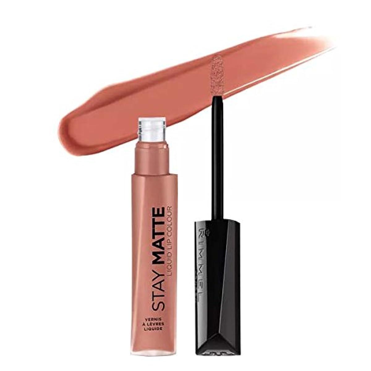 クローゼット成功放棄する(3 Pack) RIMMEL LONDON Stay Matte Liquid Lip Color - Moca (並行輸入品)