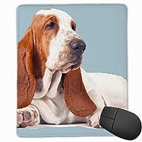 ミニサイズ パソコン ゲーミング マウスパッド 防水 バセットハウンド ペット 犬 デスクマット パッドト滑り止めゴム底 耐久性が良い キーボード 学校 オフィス用