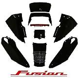ホンダ フュージョン MF02 アッパーカウル 11点セット ブラック塗装済み タイプSEバージョン ハイマウント付き 艶あり 黒 FUSION HONDA