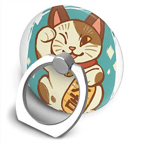 MALA BALI 招き猫 画 スマホ リング ホールドリング スマホリング 落下防止リング スタンド リングホルダー 落下防止 滑り止め ...