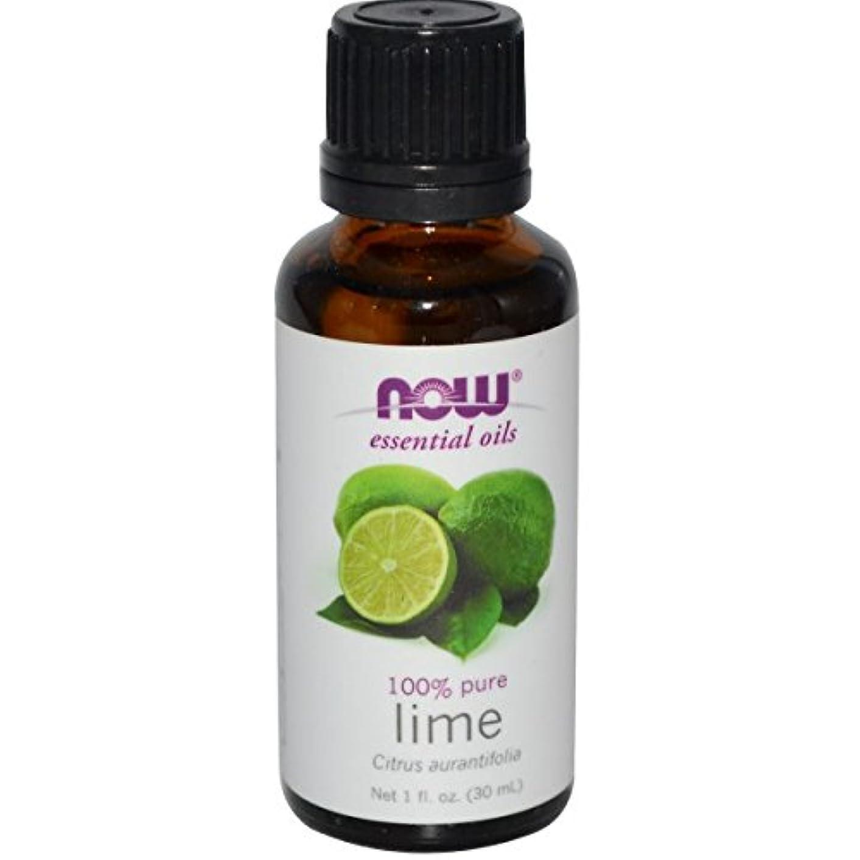 眉をひそめる滴下自殺海外直送品Lime Oil, 1 OZ by Now Foods