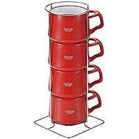 ダンスク [DANSK] コベンスタイル ストーンウェア コーヒーカップ4個セット チリレッド