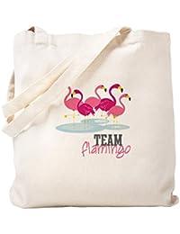 CafePress – チームフラミンゴ – ナチュラルキャンバストートバッグ、布ショッピングバッグ S ベージュ 1335237908DECC2