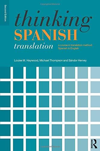 Download Thinking Spanish Translation (Thinking Translation) 0415481309