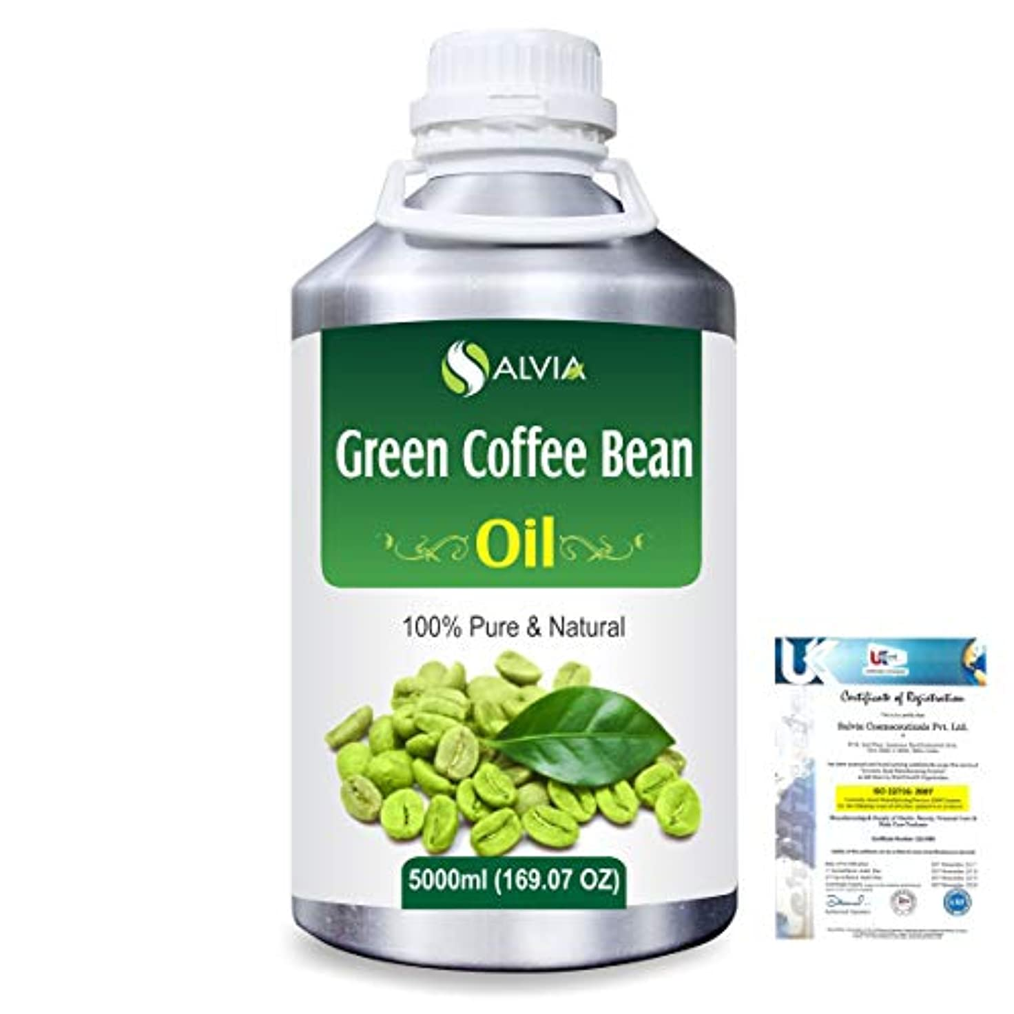 ラッププロポーショナル仕事Green Coffee Bean (Coffer) arabica)100% Natural Pure Carrier Oil 5000ml/169 fl.oz.