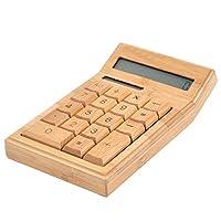 木製 電卓/電卓/竹 電卓/ソーラー電池/押しやすい/オシャレ/12桁