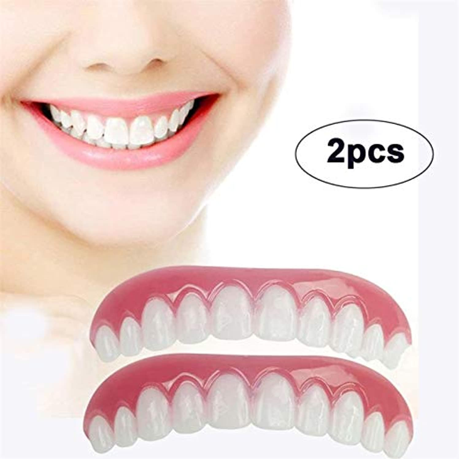 モンク相互接続ヒロイン2 ピース歯科ベニアコンフォートフィットフレックス化粧品歯義歯歯トップ化粧品ベニヤポリエチレン Dentaduras Dentes Falsos