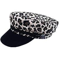 ACVIP Women s Cheetah Pattern Fiddler Newsboy Army Style Cap Headwear 8e965fa27015