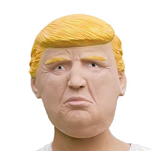 北の指導者 マスク 微笑んでいる顔 パーティーマスク 仮装マスク 変装 お面 かぶりもの 仮装イベン アイテム ハロウィーン マスク、コスチューム スク マスク 仮面 仮装パーティー 文化祭 コスプレ イベントなど用 ラテックスマスク (トランプ大統領)