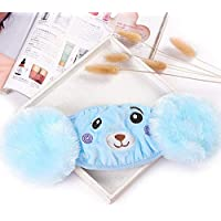 DishyKooker Cover Mouth and face Kid 2-in-1 Warm Earmuffs Cartoon Bear Winter Thicken Plush Riding Outdoor Wear Blue,for Baby Kids Adult and Home