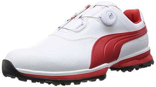[プーマゴルフ] PUMA GOLF ゴルフシューズ PUMA Golf Ace Boa 188661 04 (ホワイト*ハイリスク レッド*ブラック/28.0)