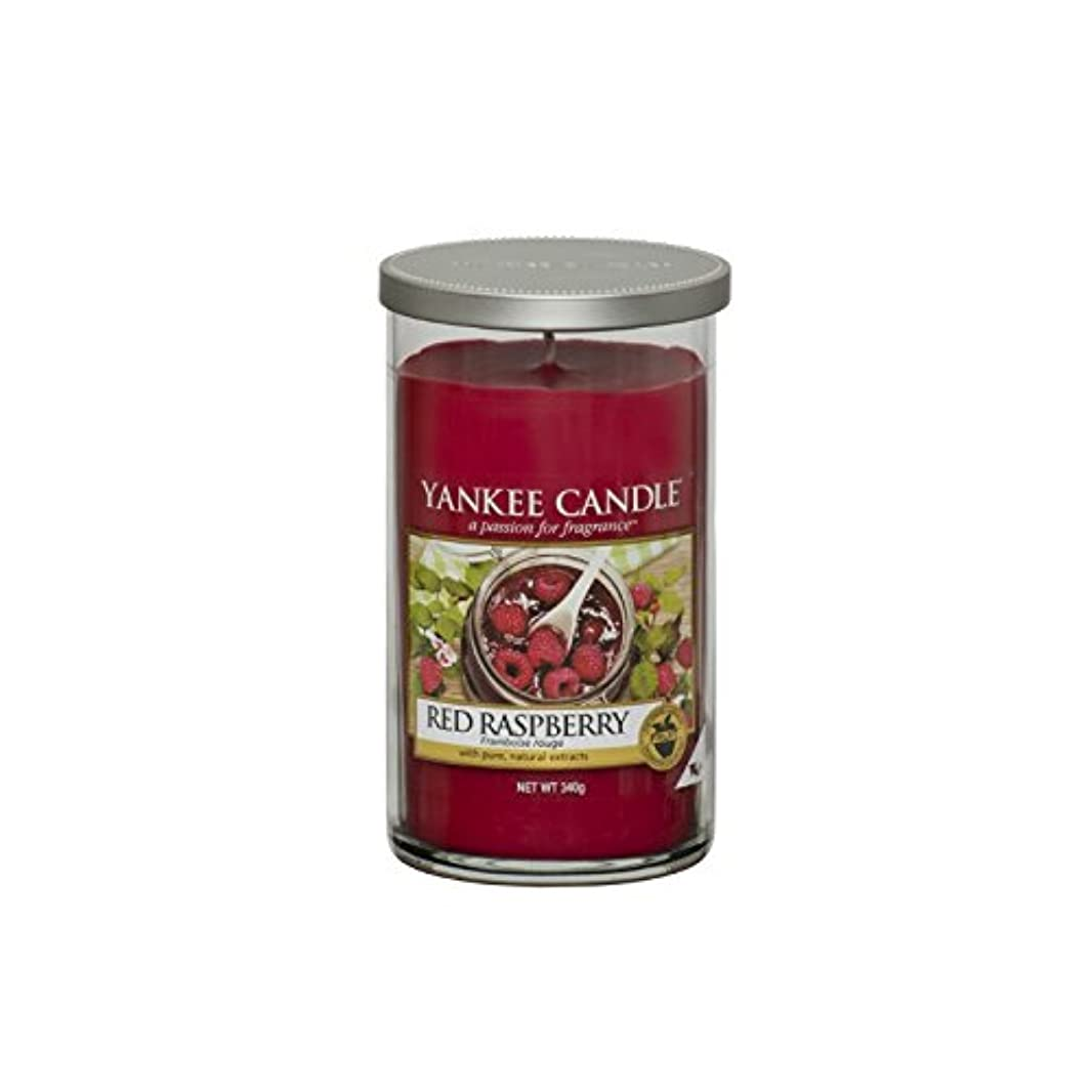 プレフィックスぼかし活性化Yankee Candles Medium Pillar Candle - Red Raspberry (Pack of 6) - ヤンキーキャンドルメディアピラーキャンドル - レッドラズベリー (x6) [並行輸入品]