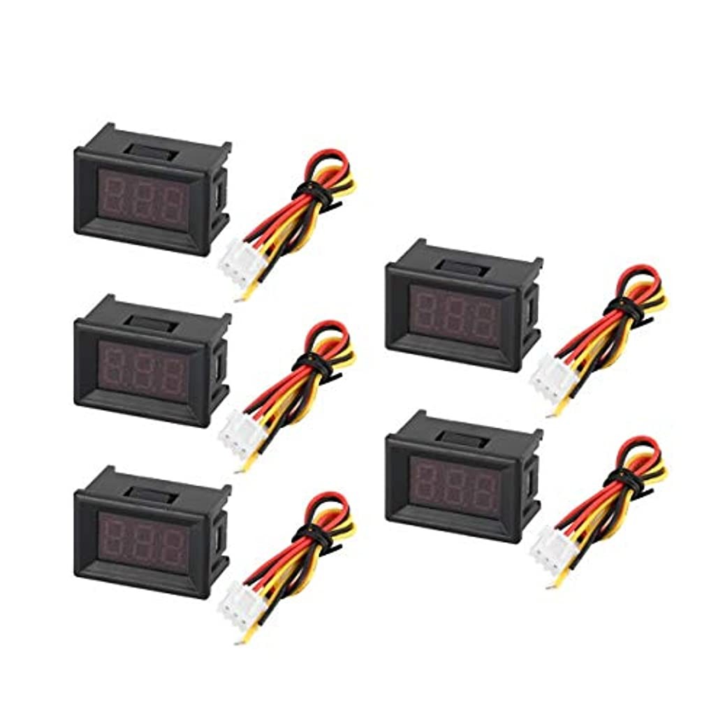 溶かすわかる競合他社選手5PCS 0-100V 0.36in 3線式LEDデジタル電圧計電圧計カーボルトテスター