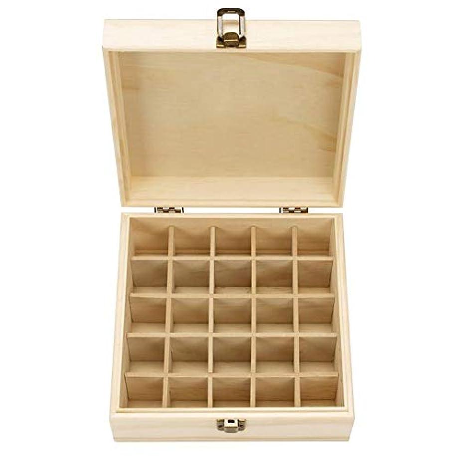 毛細血管寝室元に戻すエッセンシャルオイル収納ボックス 耐久性 自然木製 収納 ボックス 香水収納ケース 25本用 18.3x18.3x8.3cm