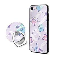 Greatayifong 星のカービィ スターアライズ IPhone8 ケース リング付き Iphone7 ケース ストラップホール付き 落下防止 耐衝撃 アイフォン 7/8 ケース透明 TPUシリコン 軽量 薄型 携帯カバー おしゃれ