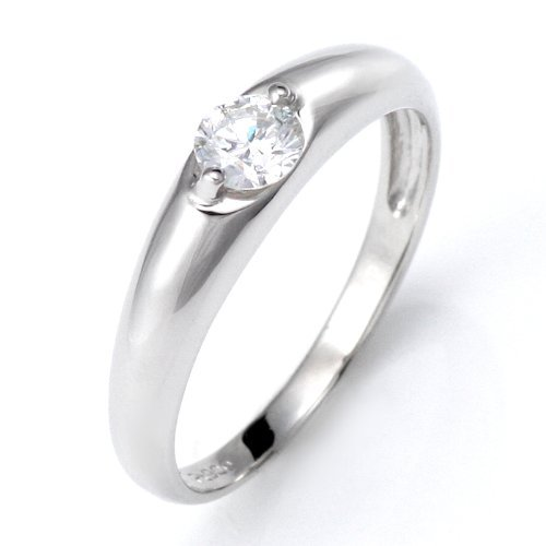 SUEHIRO ダイヤモンド 一粒 大粒 0.2カラット リング プラチナ 指輪 マリッジリング 結婚指輪 エンゲージリング 婚約指輪 サイズ7