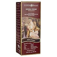 Surya Henna Henna Cream High-Performance Healthy Hair Color for Grey Coverage Dark Brown 2 37 fl oz 70 ml