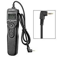 pangshi LCD有線シャッタータイマーリモートコントロールリリースコードfor Canon KM-E3 shutter release cord