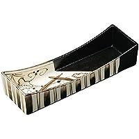 山下工芸(Yamasita craft) 黒織部 つた絵長角切立刺身鉢 8.5×26×5.5cm 11021150