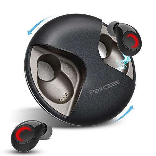 Bluetooth イヤホン5.0 ワイヤレス イヤホン 音量調整 自動ペアリング/ON/OFF 高音質 超軽量4.5g IPX5防水 ハンズフリー ノイズキャンセリング 片耳/両耳対応イヤホン iPhone/Android/PC対応 外音遮断 音漏れ防止 遅延なしブルートゥース イヤホン