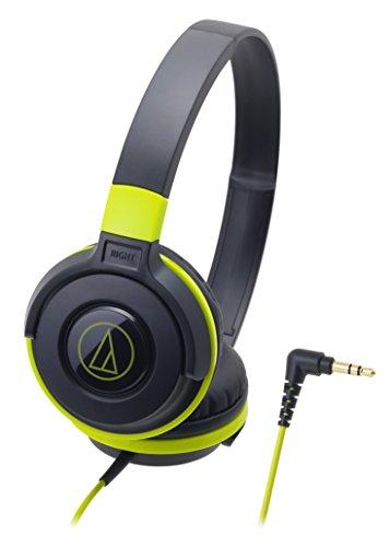 audio-technica STREET MONITORING 密閉型オンイヤーヘッドホン ポータブル ブラックグリーン ATH-S100 BGR