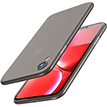 TOZO for iPhone Xr Case 6.1 Inch (2018) Ultra-Thin Hard Cover Full Body Slim Fit Shell [0.35mm] World's Thinnest Protect Bumper for iPhone10r / Xr Case 6.1 Inch [ Semi-transparent ] Lightweight with Design [Matte Black]