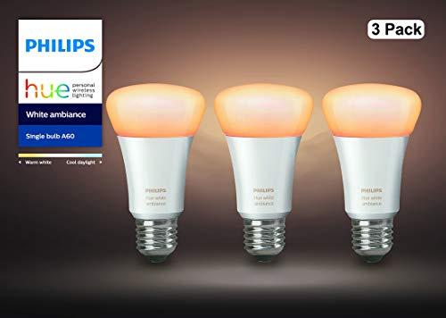 『【アウトレット品】Philips Hue ホワイトグラデーション シングルランプ(電球色~昼光色) 3個セット  E26スマートLEDライト3個  【【Amazon Echo、Google Home、Apple HomeKit、LINE対応】』のトップ画像