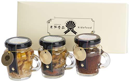 木戸食品 ホタテとエビのアヒージョ ホタテのバジルオリーブソース漬け ホタテの辛みそセット 各1個