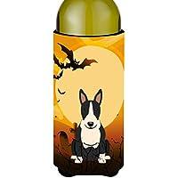 Carolines Treasures BB4399LITERK Halloween Bull Terrier Black & White Wine Bottle Beverge Insulator Hugger