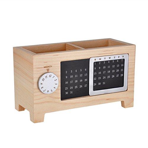 Higo ペン立て  ペンスタンド カレンダーペンホルダー 木製  卓上  収納 ボックス