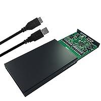 GLOTRENDS USB-A 外付 USB3.0 SSD 変換 RAID0/1/JBOD/SPAN対応 2242mmのみサポート UASP対応 M.2 SATA SSDケースハードドライブエンクロージャー(M1R)