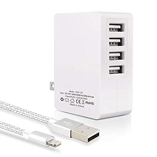 Bulesk USB 充電器 4ポート 24W ACアダプター 急速充電 コ...