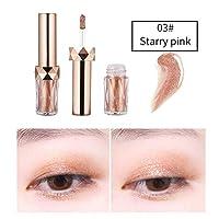 Cutelove リキッドアイシャドウ ダイヤモンドのような煌めき 日常でも使える 優しい雰囲気 ロングラスティング Starry Pink