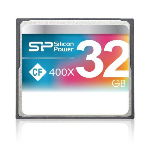 シリコンパワー コンパクトフラッシュカード 32GB 400倍速 CF 400X 永久保証 SP032GBCFC400V10