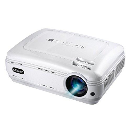 LESHP LEDプロジェクター 3200lm 1080P ...