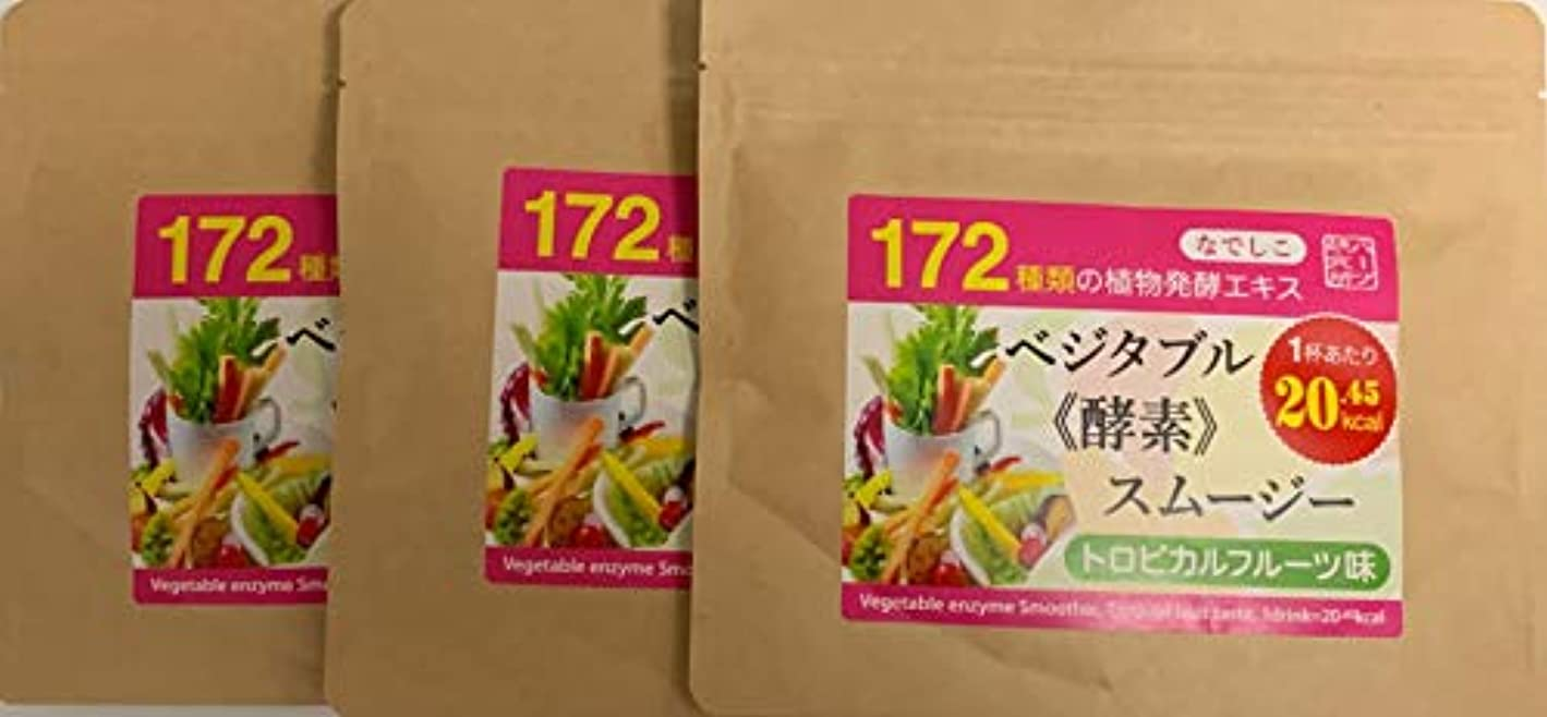 セント前件検索なでしこ ベジタブル酵素入り グリーンスムージー(トロピカルフルーツ味)300g (100g×3パック)で20%OFF