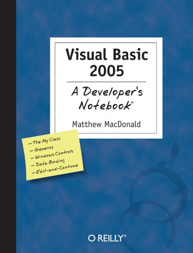 Download Visual Basic 2005: A Developer's Notebook 0596007264